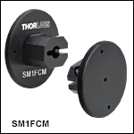 Externally SM1-ThreadedAdapters for Fiber Patch Cables with Ferrule Ends