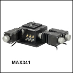 3-Axis NanoMax Stage with Stepper Motor Actuators