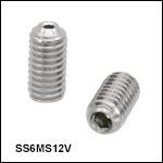 Vented, Vacuum-Compatible M6 x 1.0 Setscrews