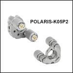 Ø1/2in Polaris<sup>®</sup> Kinematic Mirror Mount, 2 Piezoelectric Adjusters