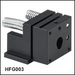 Flexure Stage Accessories: Pitch & Yaw Fiber Chuck Mount
