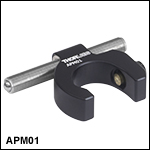 Adjustable Kinematic Positioner, Side-Mounted Actuator, Slip-On Ø1/2in Post Collar