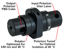 Optical Isolator in FiberBench Mount