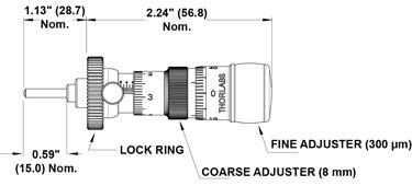 DR3 Micrometer Dimensions