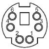 6 Pin Mini Din Female Connector