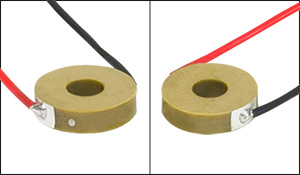 Electrodes with and without Dot