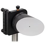 Off-axis parabolic Mirror Mounted on 6-axis mount using SM2MP Adapter