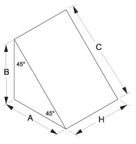 Right Angle Prism Drawing