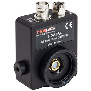 PDA36A - Si Switchable Gain Detector, 350-1100 nm, 10 MHz BW, 13 mm<sup>2</sup>, 120 VAC