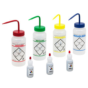 B2939 - Kit: 4 Wash Bottles and 3 Dropper Bottles