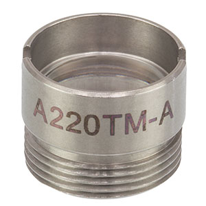 A220TM-A - f = 11.00 mm, NA = 0.26, Mounted Rochester Aspheric Lens, AR: 350 - 700 nm