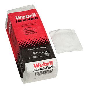 CP-100 - Webril Handi-Pads 4in x 8in (4in x 4in Folded), 100 Wipes per Package