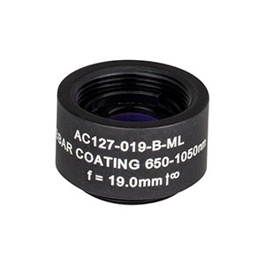 AC127-019-B-ML - f=19 mm, Ø1/2in Achromatic Doublet, SM05-Threaded Mount, ARC: 650-1050 nm
