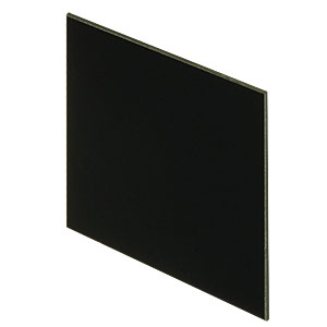 FGL780H - 6in Square RG780 Colored Glass Filter, 780 nm Longpass