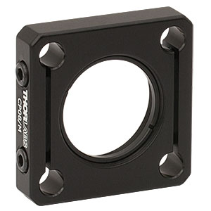 CP08/M - SM1-Threaded 30 mm Cage Plate with Flexure Clamping, 1 Retaining Ring, M4 Tap
