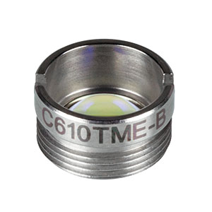 C610TME-B - f = 4.00 mm, NA = 0.6, Mounted Aspheric Lens, ARC: 600 - 1050 nm