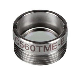 C560TME-B - f = 13.86 mm, NA = 0.18, Mounted Geltech Aspheric Lens, AR: 600 - 1050 nm