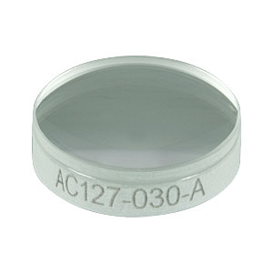 AC127-030-A - f = 30.0 mm, Ø1/2in Achromatic Doublet, ARC: 400 - 700 nm