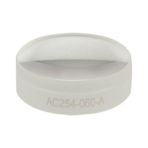 AC254-060-A - f = 60.0 mm, Ø1in Achromatic Doublet, ARC: 400 - 700 nm