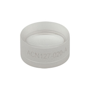 ACN127-020-A - f = -20 mm, Ø1/2in Achromatic Doublet, ARC: 400 - 700 nm
