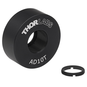 AD10T - Ø1in OD Adapter for Ø10 mm Optic, Internally Threaded, 0.38in Thick