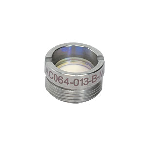 AC064-013-B-ML - f=13 mm, Ø6.35 mm Achromatic Doublet, M9x0.5 Threaded Mount, ARC: 650-1050