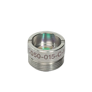 AC050-015-C-ML - f=15 mm, Ø5 mm Achromatic Doublet, M9x0.5 Threaded Mount, ARC: 1050-1620 nm