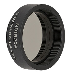 NDIR20A - Ø25 mm, SM1-Threaded Mount, IR Reflective Neutral Density Filter, OD: 2.0