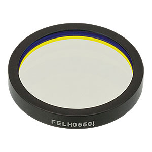 FELH0550 - Ø25.0 mm Premium Longpass Filter, Cut-On Wavelength: 550 nm