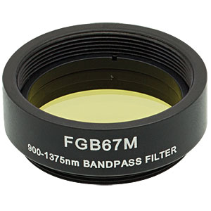 FGB67M - Ø25 mm BG36 Colored Glass Bandpass Filter, SM1-Threaded Mount