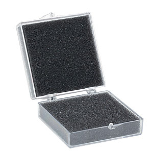 BX03 - 2.5in x 2.5in x 1in Optic Storage Box W/Foam Inserts, Pack of 10