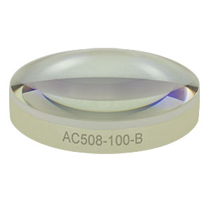 AC508-100-B - f = 100.0 mm, Ø2in Achromatic Doublet, ARC: 650 - 1050 nm