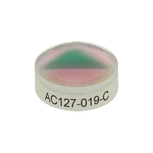 AC127-019-C - f = 19.0 mm, Ø1/2in Achromatic Doublet, ARC: 1050 - 1700 nm