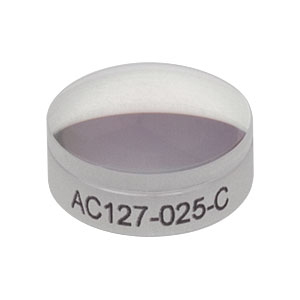 AC127-025-C - f = 25.0 mm, Ø1/2in Achromatic Doublet, ARC: 1050 - 1700  nm