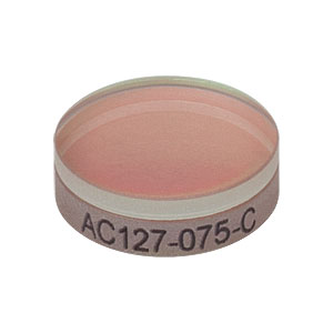 AC127-075-C - f = 75.0 mm, Ø1/2in Achromatic Doublet, ARC: 1050 - 1700 nm