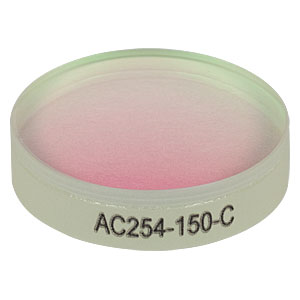 AC254-150-C - f = 150.0 mm, Ø1in Achromatic Doublet, ARC: 1050 - 1700 nm