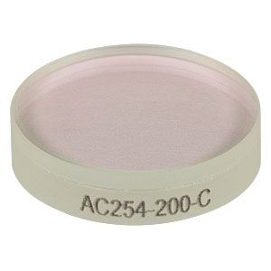 AC254-200-C - f = 200.0 mm, Ø1in Achromatic Doublet, ARC: 1050 - 1700 nm