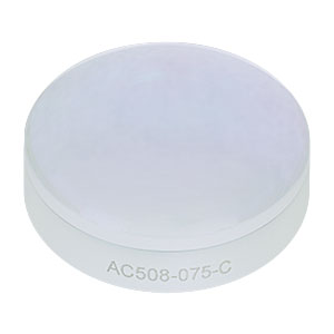 AC508-075-C - f = 75.0 mm, Ø2in Achromatic Doublet, ARC: 1050 - 1700 nm