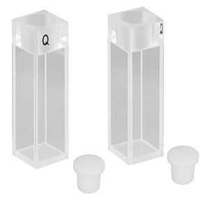 CV10Q3500FS - 3500 µL Macro Fluorescence Cuvette with Stopper, 2 Pack