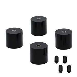 AV4 - Ø27.0 mm Sorbothane Feet, Internal 1/4in-20 Mounting Thread, 4 Pieces
