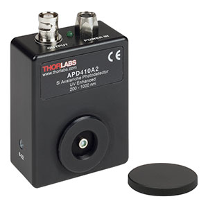 APD410A2 - Si Variable-Gain Avalanche Detector, Temperature Compensated, UV Enhanced, 200 - 1000 nm, DC - 10 MHz, 8-32 Taps