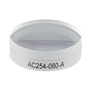 AC254-080-A - f = 80 mm, Ø1in Achromatic Doublet, ARC: 400 - 700 nm