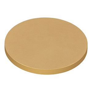 DG10-1500-M01 - Ø1in Protected Gold Reflective Ground Glass Diffuser, 1500 Grit
