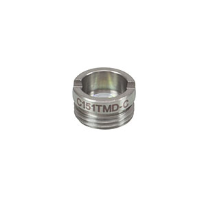 C151TMD-C - f = 2.00 mm, NA = 0.50, Mounted Geltech Aspheric Lens, AR: 1050-1700nm