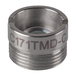 C171TMD-C - f = 6.20 mm, NA = 0.30, Mounted Aspheric Lens, ARC: 1050 - 1700 nm