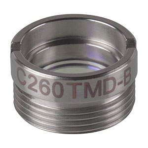 C260TMD-B - f = 15.29 mm, NA = 0.16, Mounted Aspheric Lens, ARC: 600 - 1050 nm
