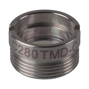 C280TMD-C - f = 18.40 mm, NA = 0.15, Mounted Geltech Aspheric Lens, AR: 1050-1700 nm