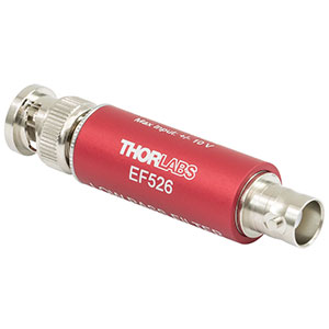 EF526 - Low-Pass Electrical Filter, ≤15 MHz Passband, Coaxial BNC Feedthrough