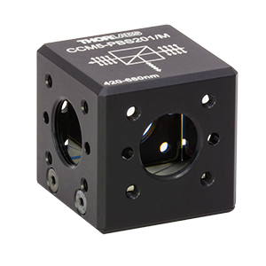 CCM5-PBS201/M - 16 mm Cage-Cube-Mounted Polarizing Beamsplitter Cube, 420-680 nm, M4 Tap
