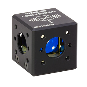 CCM5-PBS202/M - 16 mm Cage-Cube-Mounted Polarizing Beamsplitter Cube, 620-1000 nm, M4 Tap